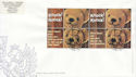 2002-10-01 Greetings Stamps Ex Label Sheet 9 FDC (59902)