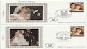 1986-07-22 Royal Wedding Stamps Benham x4 FDC (60051)