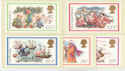 1982-11-17 Christmas PHQ 64 set of 5 Mint (60149)
