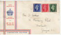 1937-05-10 KGVI Definitive Stamps Glasgow FDC (60218)