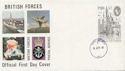 1980-04-09 London Exhibition Forces cds FDC (60485)