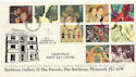 1995-03-21 Greetings Barbican Gallery Plymouth FDC (60537)