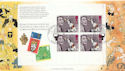 1997-09-23 BBC Anniv Bklt Full Pane London FDC (60540)