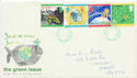 1992-09-15 Green Issue Stamps Cardiff FDC (60596)