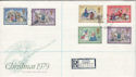 1979-11-21 Christmas Stamps Angel Hill cds FDC (60615)