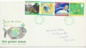1992-09-15 Green Issue Stamps Cardiff FDC (60671)