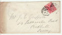 1902-10 KEVII 1d Red Used on Cover 1902 (60733)