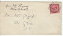 1910-36 KGV 1d Red Stamp Used on Cover (60734)