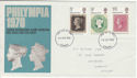 1970-09-18 Philympia Stamps Cardiff FDC (60757)