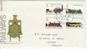 1975-08-13 Railways Stamps Cardiff FDC (60763)