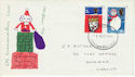 1966-12-01 Christmas Stamps Cardiff FDC (60776)