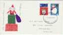 1966-12-01 Christmas Stamps Cardiff FDC (60777)