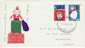 1966-12-01 Christmas Stamps Cardiff FDC (60778)