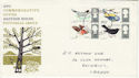 1966-08-08 British Birds Stamps Cardiff FDC (60831)