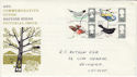 1966-08-08 British Birds Stamps Cardiff FDC (60832)