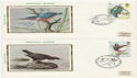 1980-01-16 Bird Stamps x4 Silk FDC (60841)