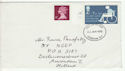 1975-01-22 Charity Stamp Cyl Margin London FDC (60891)
