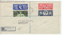 1953-06-03 Coronation Stamps Rochdale cds FDC (60896)