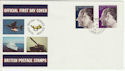 1972-11-20 Silver Wedding Stamps FPO cds FDC (60916)