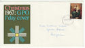 1967-10-18 Christmas Wide Band Left Error FDC (60988)