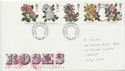 1991-07-16 Roses Stamps Cardiff FDC (61027)