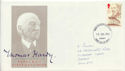 1990-07-10 Thomas Hardy Stamp Cardiff FDC (61055)