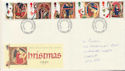 1991-11-12 Christmas Stamps Cardiff FDC (61056)