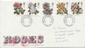 1991-07-16 Roses Stamps Cardiff FDC (61057)