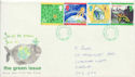 1992-09-15 Green Issue Stamps Cardiff FDC (61061)