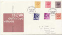 1976-02-25 Definitive Stamps Chichester FDC (61094)