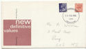 1976-02-25 Definitive Stamps Cardiff FDC (61097)