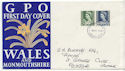 1967-03-01 Wales Definitive Stamps Swansea FDC (61134)