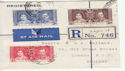Nigeria 1937 Coronation Stamps Used on Piece (61266)