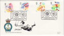 1988-03-22 Sport Stamps Gymnastics Slough FDC (61278)