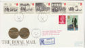 1984-07-31 Mailcoach Stamps Bath cds FDC (61289)