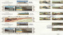 1985-01-22 Famous Trains Stamps Gutters x3 Silk FDC (61307)