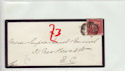 Queen Victoria 1d Red Used on Cover (61351)
