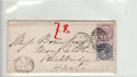 Queen Victoria 2 Stamps Used on Cover (61356)