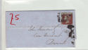 Queen Victoria 1d Red Used on Cover (61361)