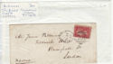 Queen Victoria 1d Red Used on Cover (61363)
