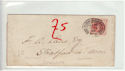 Queen Victoria 1d Red Used on Cover (61365)