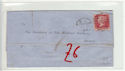 Queen Victoria 1d Red Used on Cover (61367)