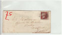 Queen Victoria 1d Red Used on Cover (61369)