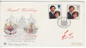 1981-07-22 Royal Wedding Stamps London FDC (61421)