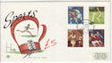 1980-10-10 Sport Stamps Crystal Palace FDC (61432)