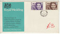 1973-11-14 Royal Wedding Stamps Shere cds FDC (61433)