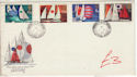 1975-06-11 Sailing Stamps Shere cds FDC (61434)