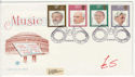 1980-09-10 Music Conductors Stamps London WC2 FDC (61435)