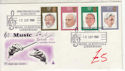 1980-09-10 British Conductors Stamps London SW7 FDC (61444)