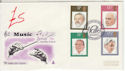 1980-09-10 Conductors Stamps Halle Manchester FDC (61445)